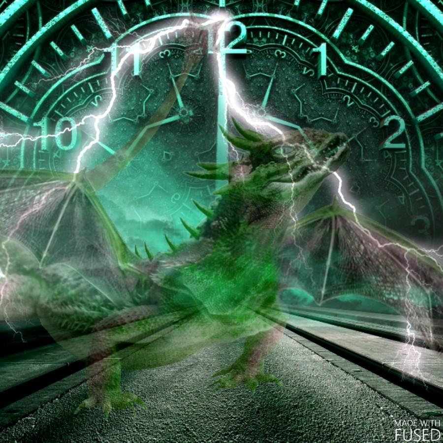 drache grün