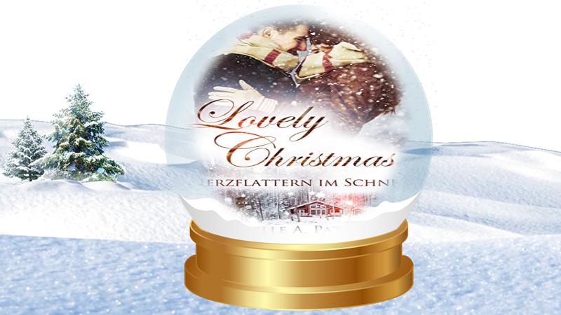 Loveley Chrismas Herzflattern im Schnee